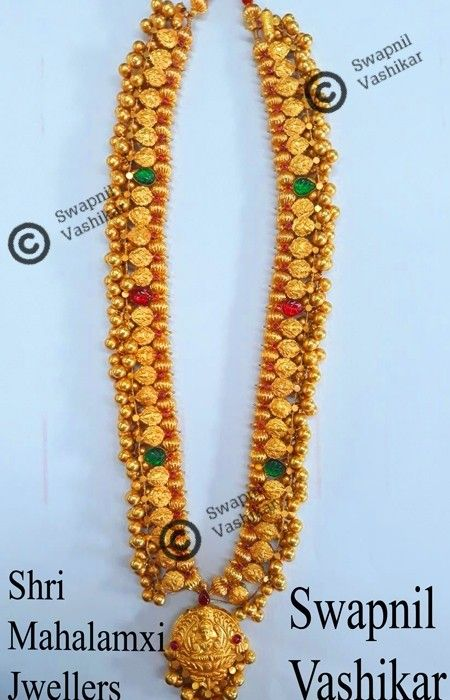 Kolhapuri saaj with antique pendant weight 76 grms #kolhapurisaaj.