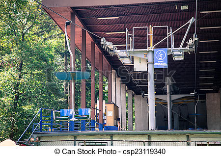 Stock Photo of Old ropeway at Bratislava, Slovakia.