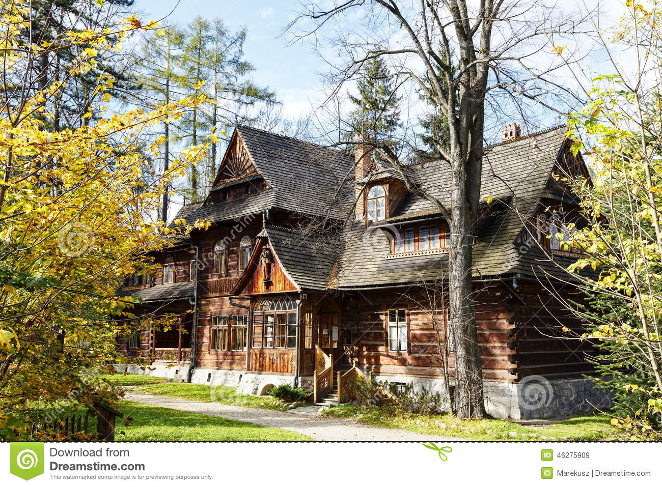 Zakopane Style Museum Located In Villa Koliba Editorial Stock.