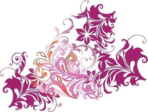 Black and white floral corner clip art free vector download.