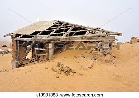 Stock Photo of Decaying architecture at Kolmanskop k19931383.