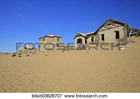"""Picture of """"Abandoned houses in the desert, former diamond mining."""