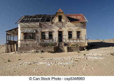 Stock Photos of Deserted house in the ghost town Kolmanskop.
