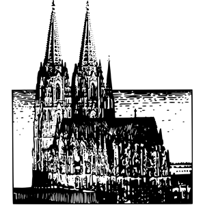 Kölner Dom clipart, cliparts of Kölner Dom free download (wmf, eps.