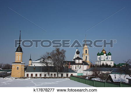 Picture of Panorama of the Kolomna Kremlin k17878277.