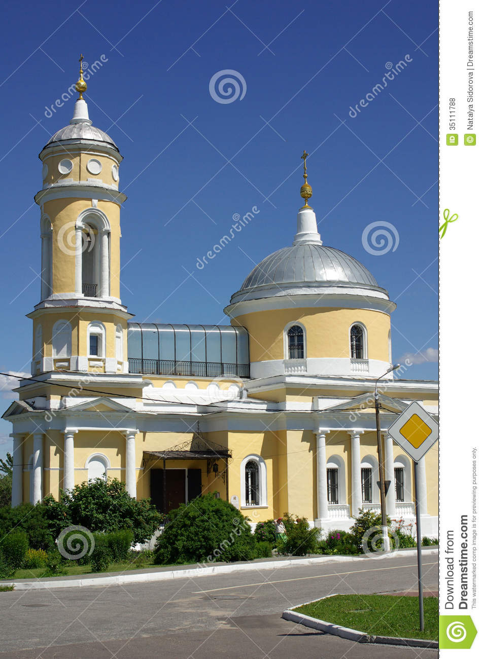 Church Of The Exaltation Of The Holy Cross In Kolomna Royalty Free.