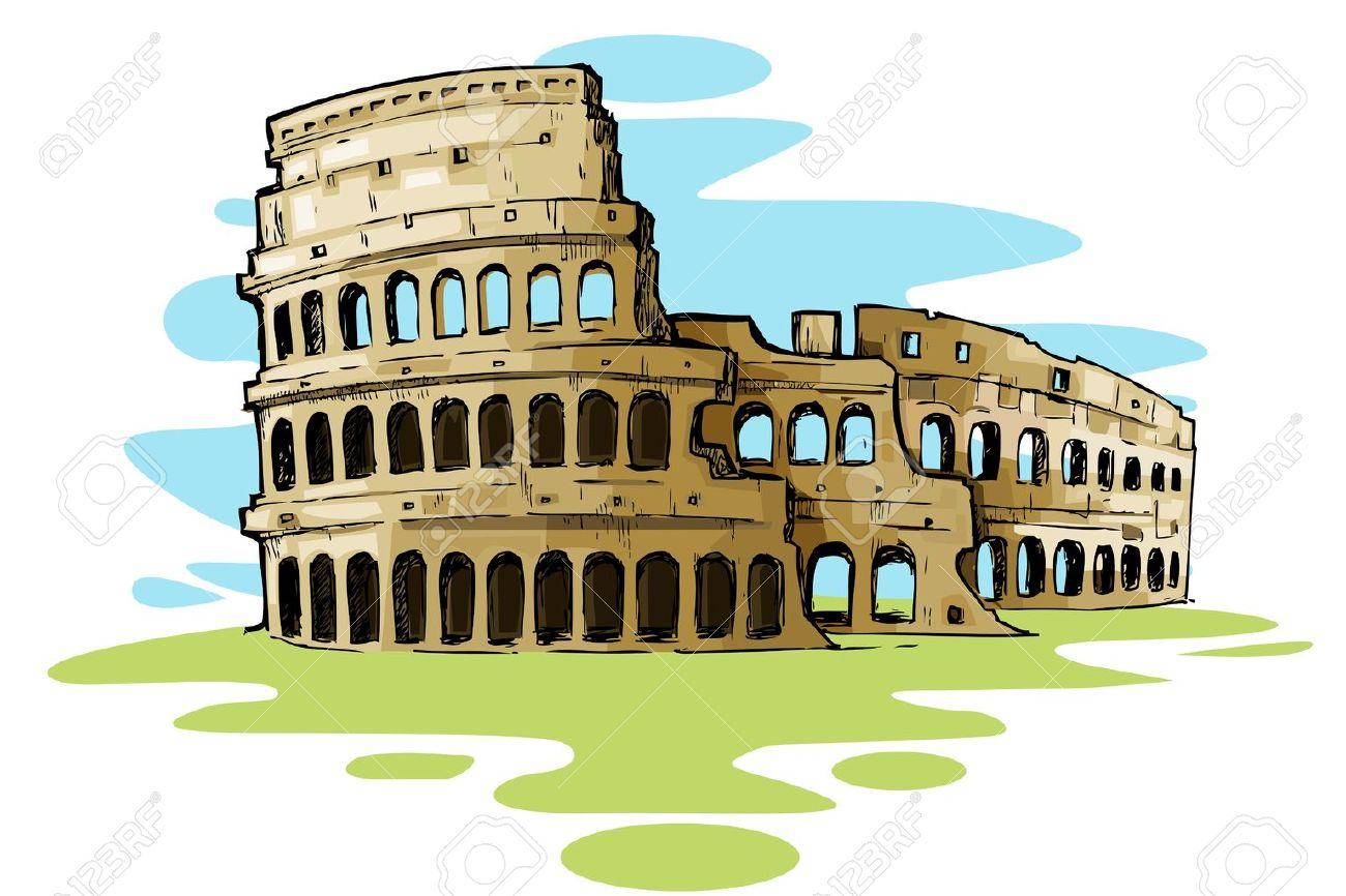 Rome Colosseum Clipart.