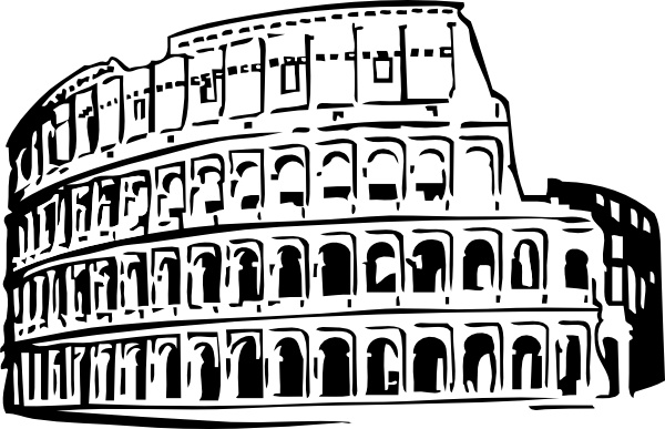 Roman Coliseum clip art Free vector in Open office drawing svg.