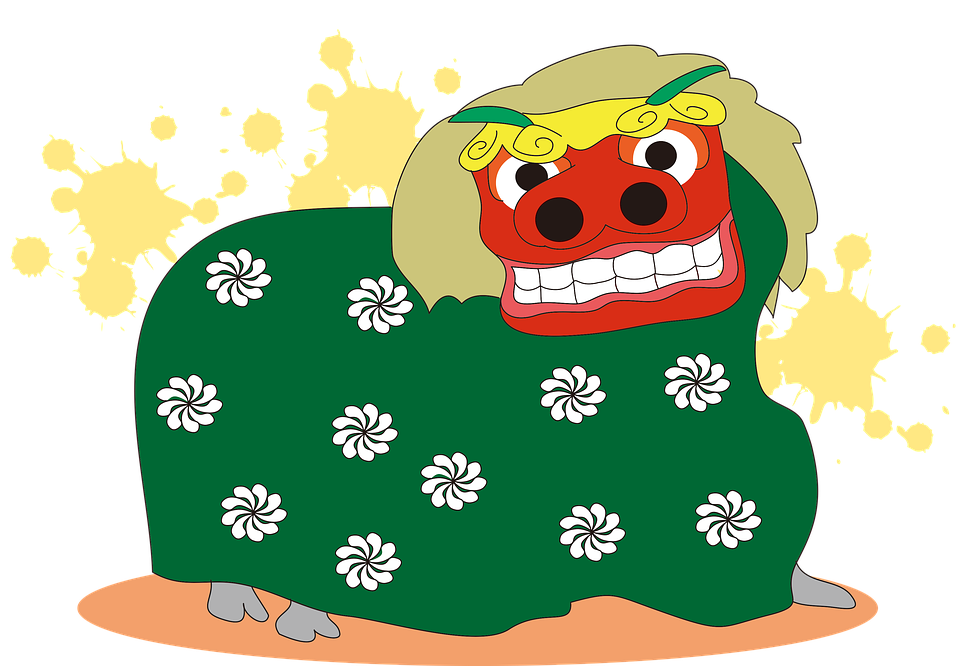 Free illustration: Lion Dance, Japan, New Year'S Day.
