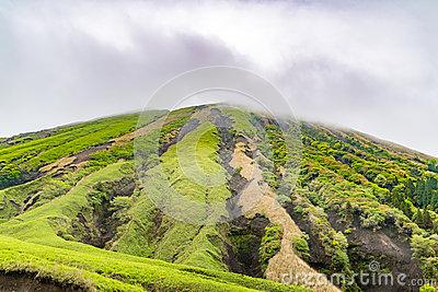 Komezuka Volcanic Cone In Mt. Aso Area In Japan Stock Photo.