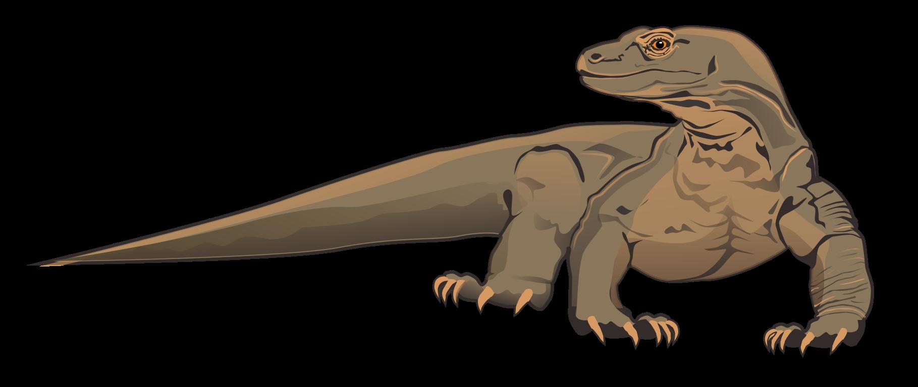 Komodo Dragon Clip Art Free.