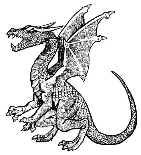 Dragon cliparts.