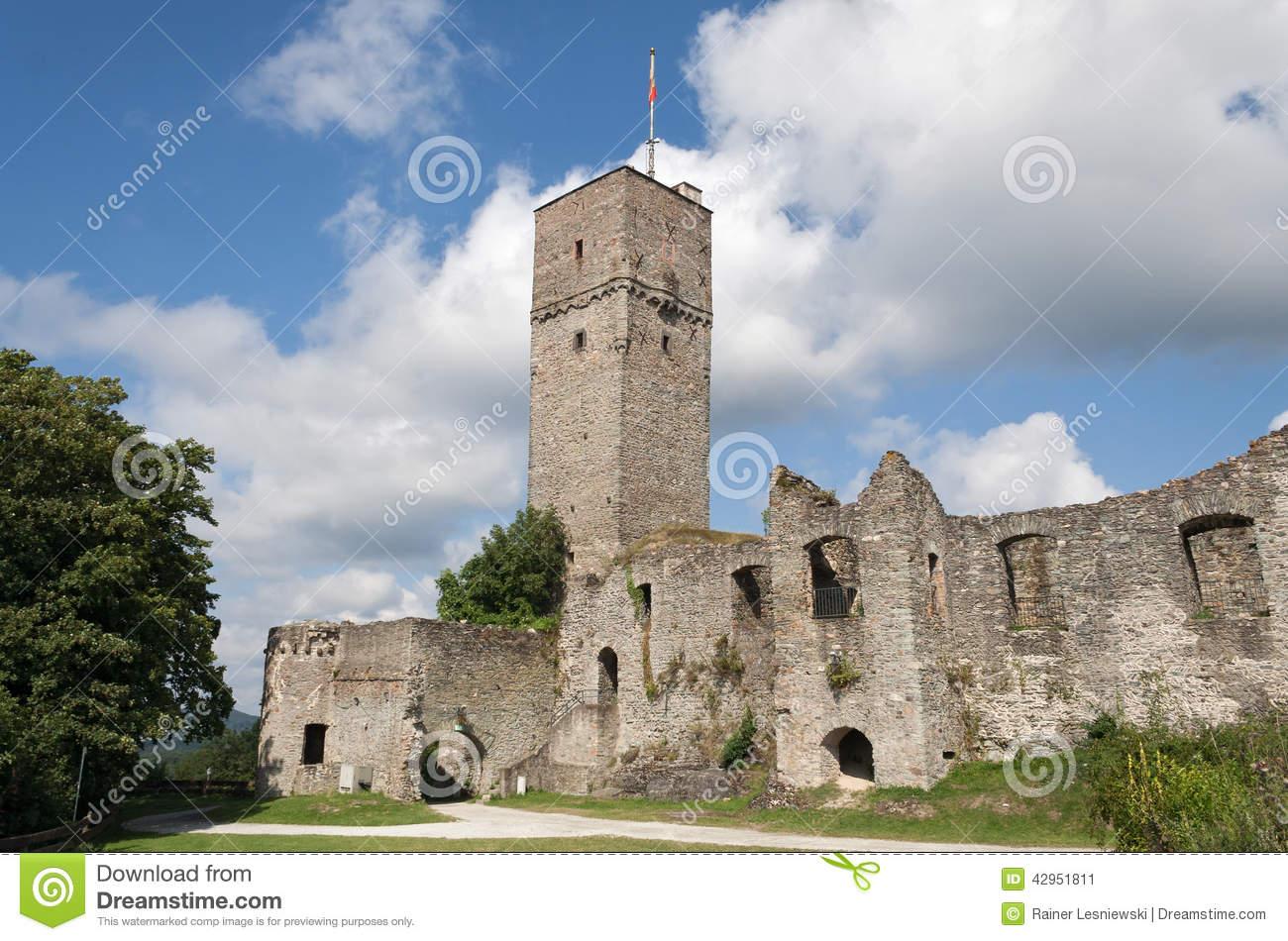 Königstein Castle Ruins Stock Photo.