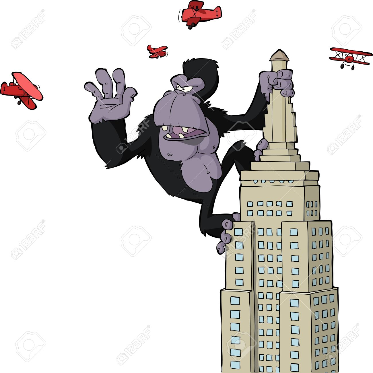 664 King Kong Stock Illustrations, Cliparts And Royalty Free King.