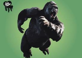 Angry King Kong, Vector Graphic.
