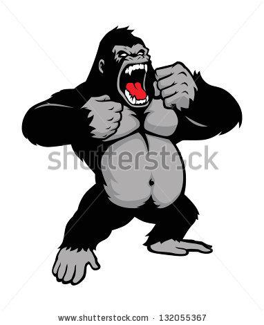 Angry King Kong Free Vector.