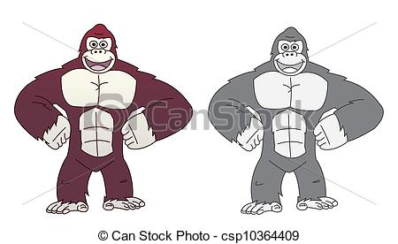 Vector Clipart of King kong csp10364409.