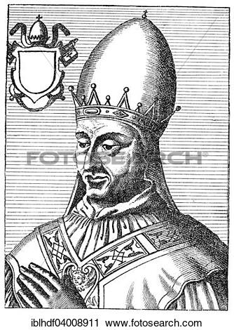 """Stock Photography of """"Pope Constantine or Constantinus, Konstantin."""