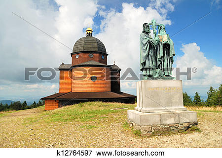 Picture of Chapel of saint Konstantin and Methodius in clouds.