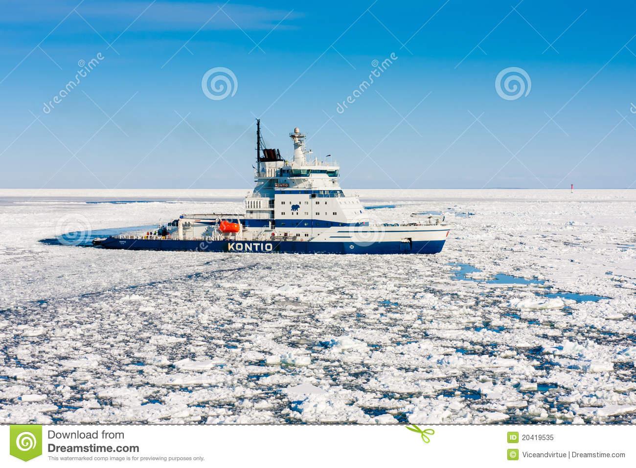 Icebreaker Kontio Editorial Image.