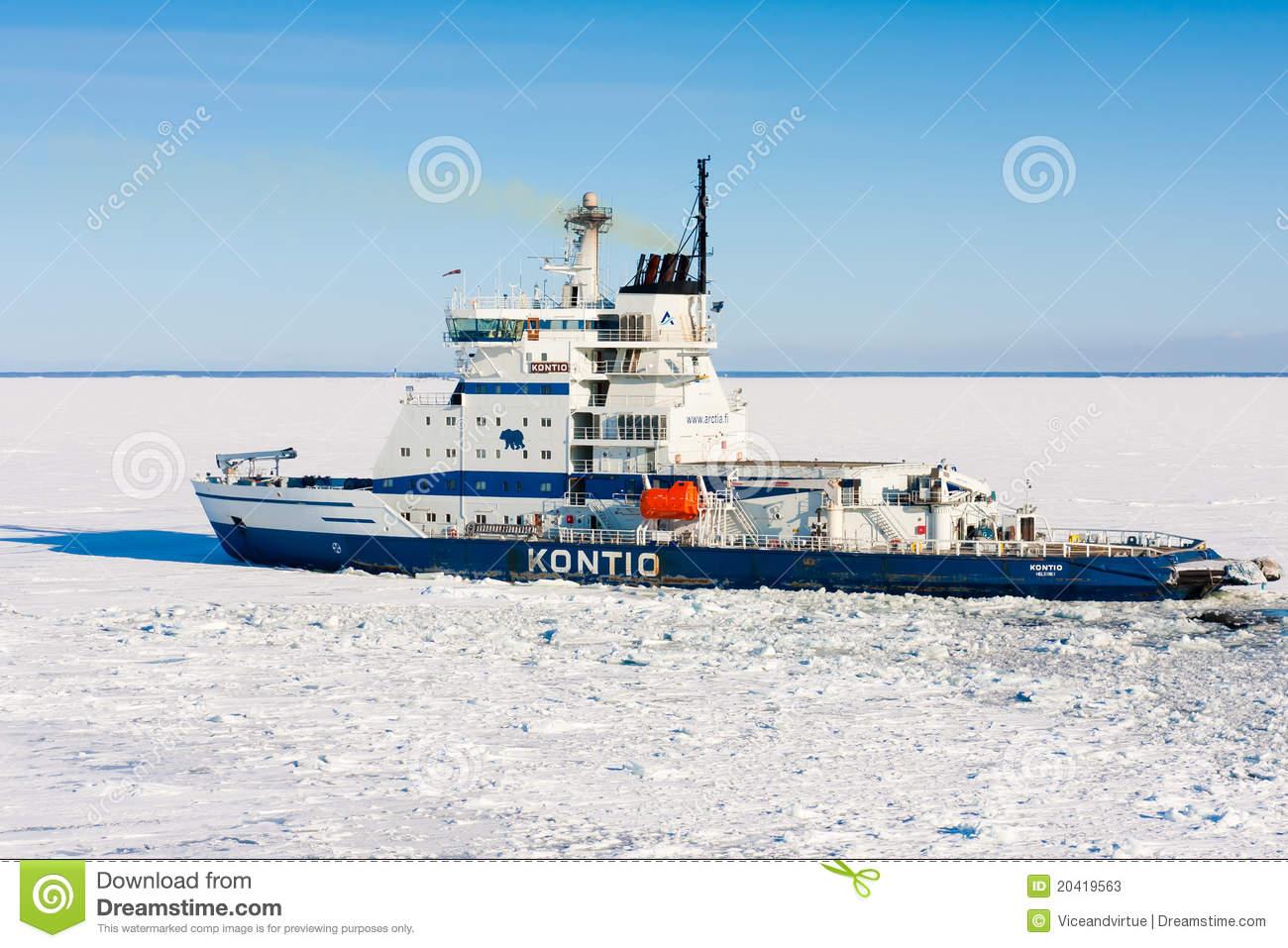 Icebreaker Kontio Editorial Stock Photo.