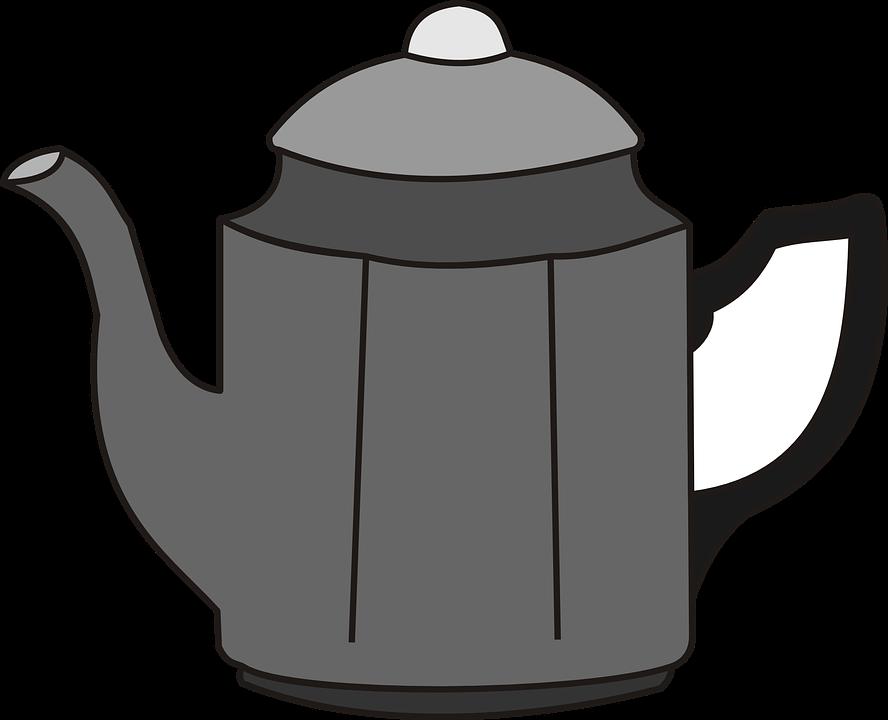 Vektorová grafika zdarma: Konvice Na Kávu, Čajová Konvička.