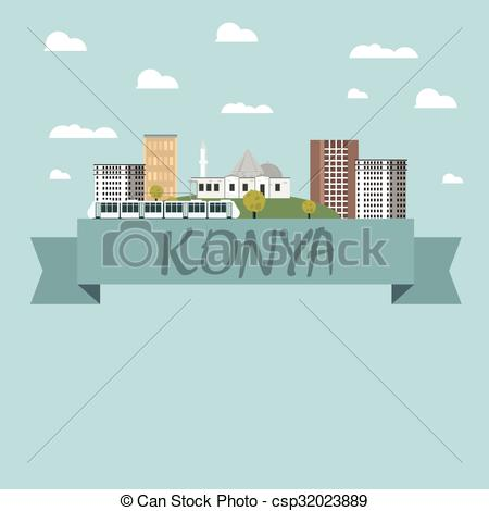 Vector of Konya city vector csp32023889.