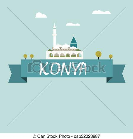 Vector of Konya city vector csp32023887.