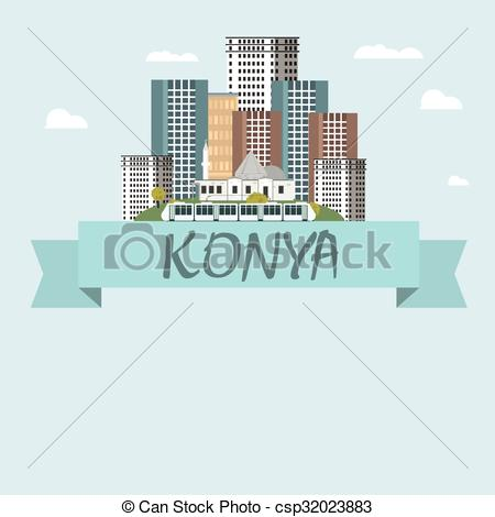 Vector of Konya city vector csp32023883.