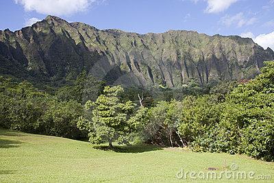 Ko'olau Mountain Landscape, Kaneohe, Hawaii Stock Photos.