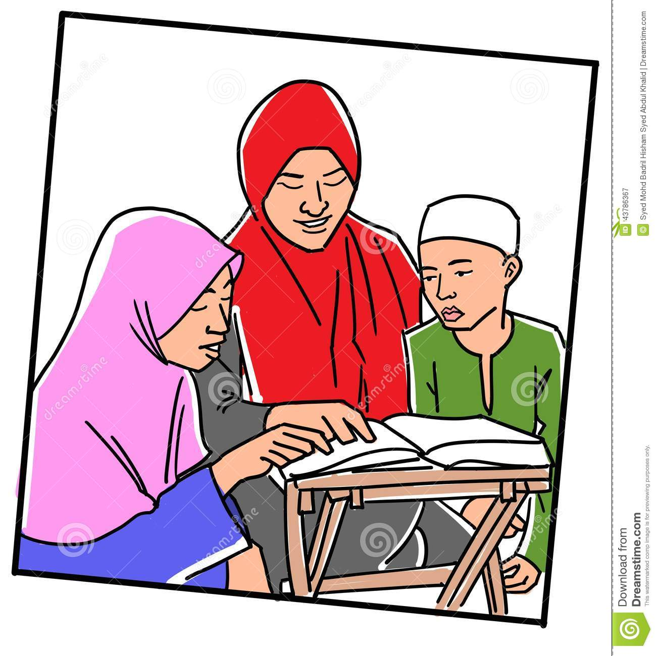 Quran kids clipart.