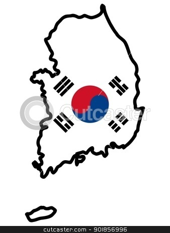 South korea clipart.