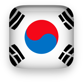 Free Animated South Korea Flags.
