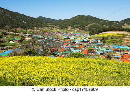 Stock Image of Beautiful Island in South Korea,Cheongsando.