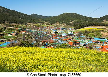 Stock Image of Beautiful Island in South Korea,Cheongsando.