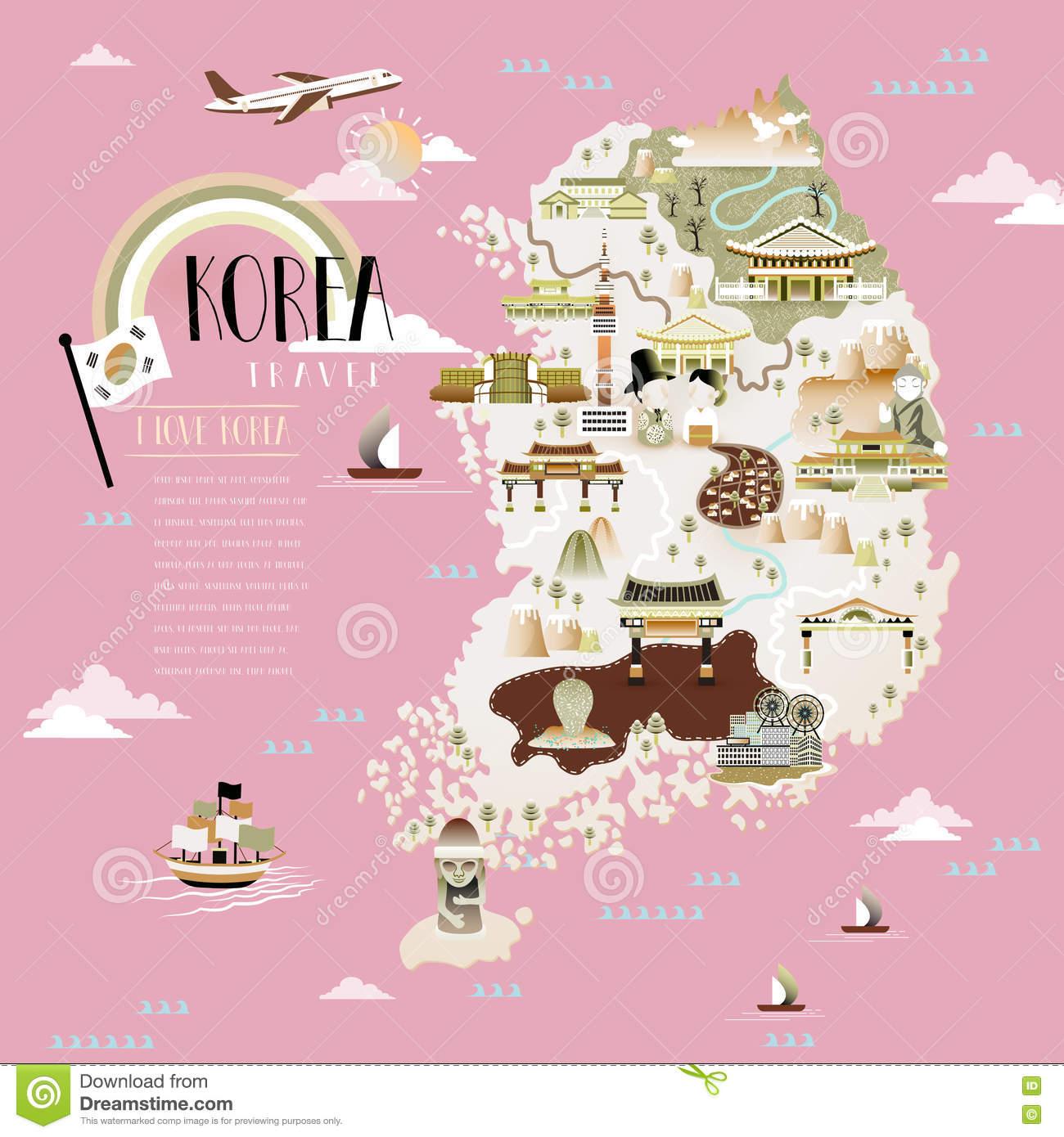 Cityscapes Jeju Island Stock Illustrations.