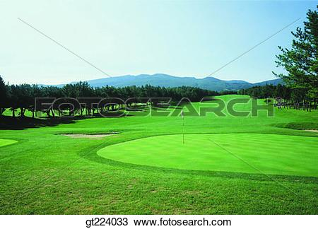 Stock Photo of Korea, Cheju Island, Cheju dynasty golf links, golf.