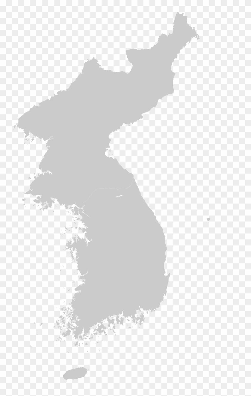 Blank Korea Map, HD Png Download.