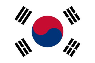 South Korea flag icon.