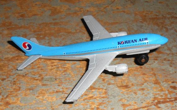 Vintage Toy Airplane Korean Air Die Cast Airlines by TheBackShak.