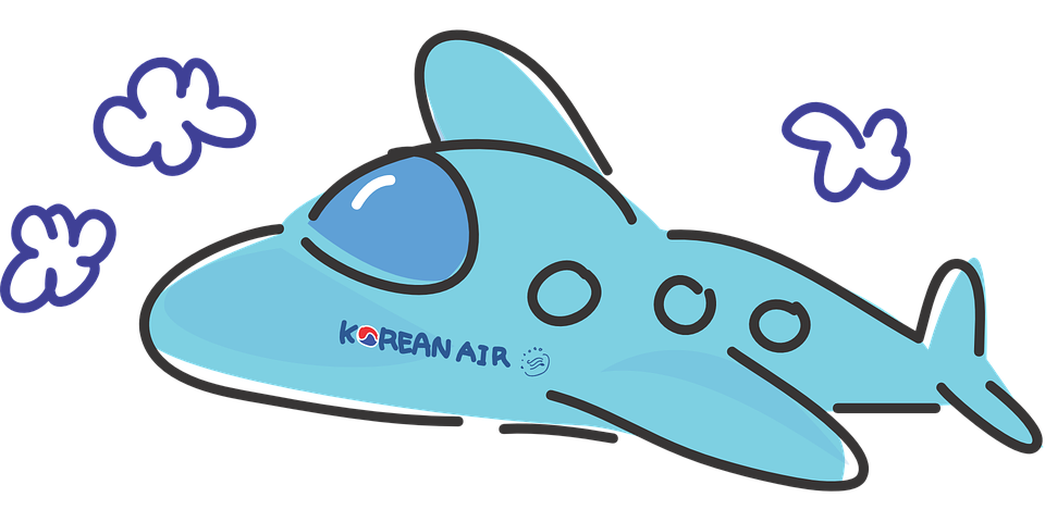 Free vector graphic: Plane, Korean Air, Travel, Airliner.