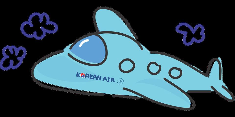 Free vector graphic: Plane, Korean Air, Travel, Airliner.