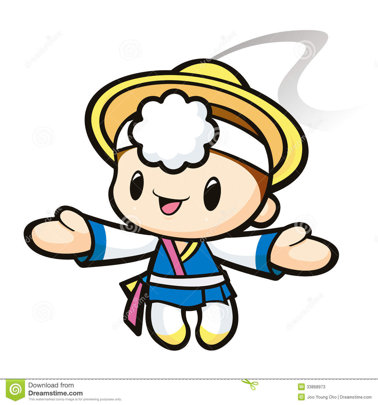 Korean character for soul clipart.