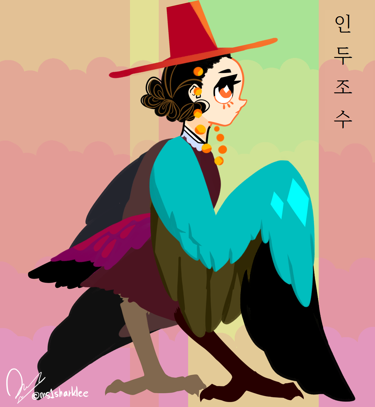 my own art)character design)Korean.
