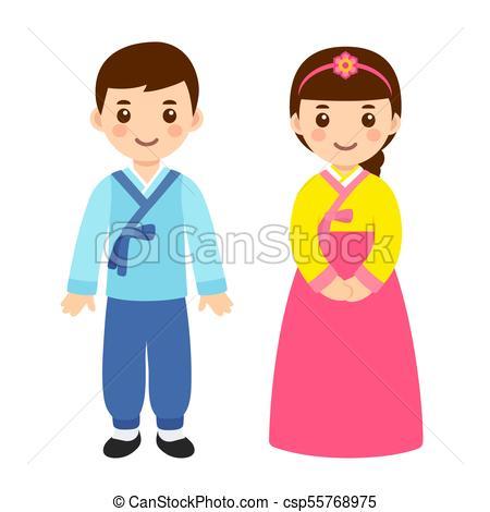 Traditional Korean costumes.