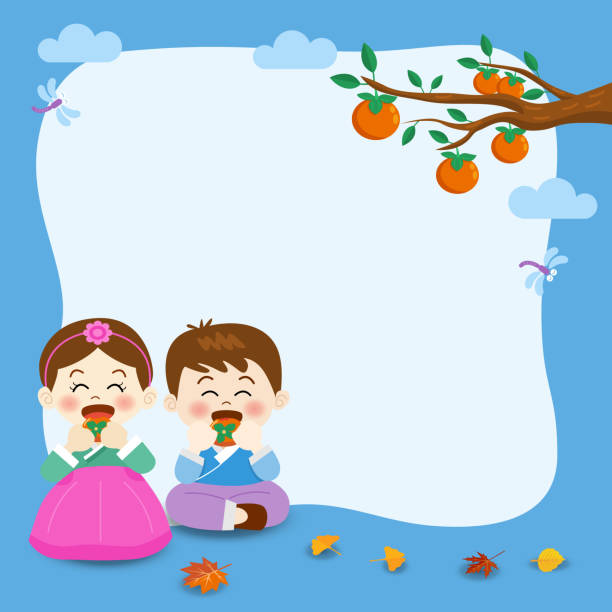 Best Korean Thanksgiving Illustrations, Royalty.