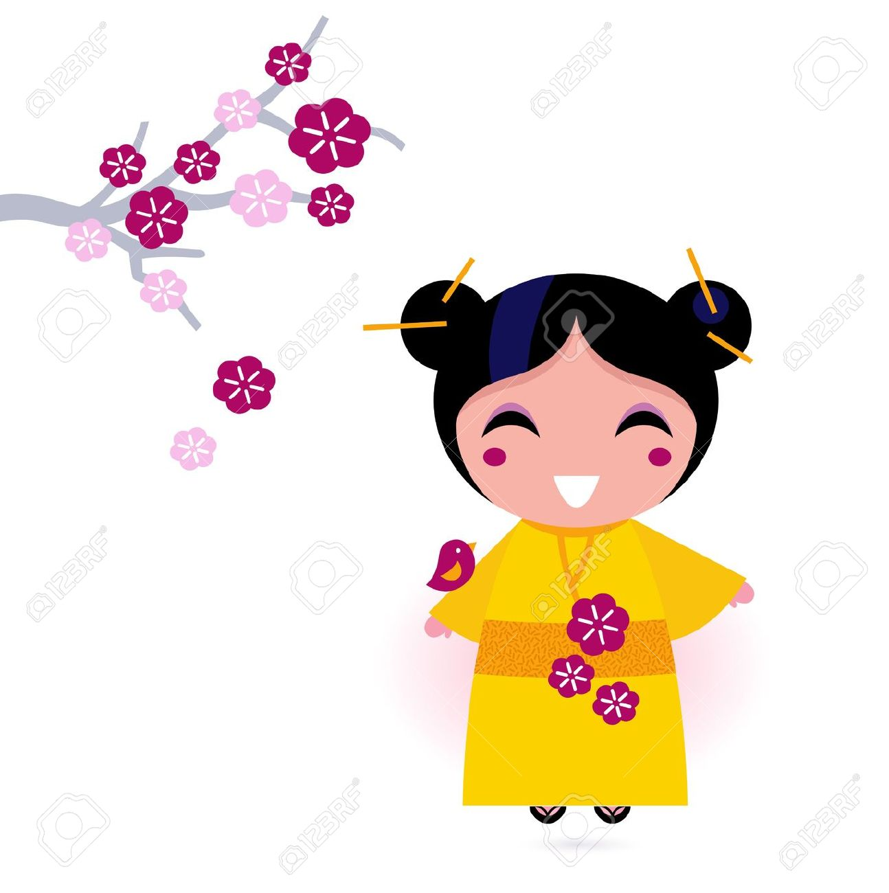 Korean Cute Girl Clipart.