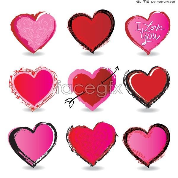 Variety of Korea cute cute heart.