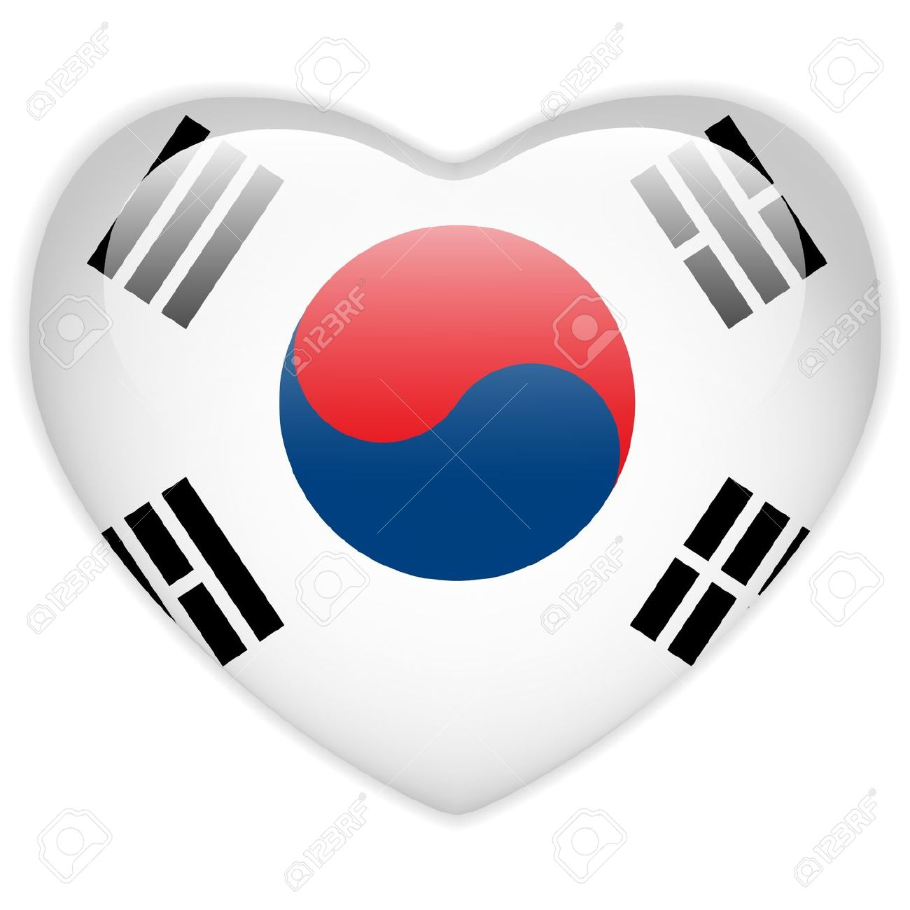 korean cute heart clipart #2