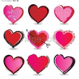korean cute heart clipart #3